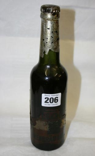The bottle of beer that survived the Hindenburg disaster.  Photo from This is Wiltshire