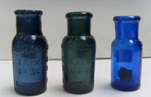 Colors of Bromo Seltzer bottles
