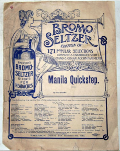Bromo Seltzer promotional sheet music circa 1900