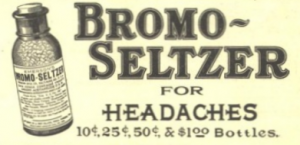 Bromo Seltzer advertisement from 1909