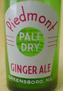 Piedmont Ginger Ale ACL soda