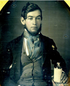 Man with Ware's Lotion, circa 1840