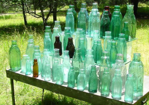 61 cathedral pickle bottles